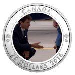 Une pièce en argent pur pour souligner le moment important de la visite royale au Canada en 2016