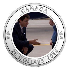 Pièce en argent pur commémorant la visite royale au Canada en 2016
