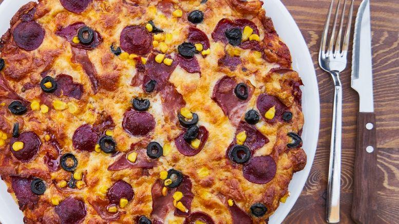 Pizza pour végétarien mangeur de viande